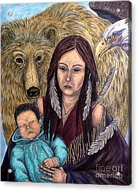 Motherhood-guardian Spirits Acrylic Print
