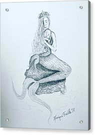 Motherhood Mermaid Acrylic Print