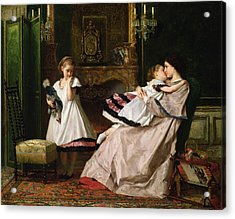 Motherly Love Acrylic Print by Gustave Leonard de Jonghe