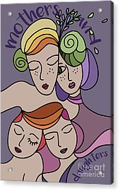Mothers And Daughters Acrylic Print