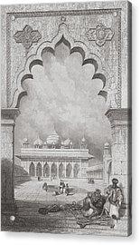 Moti Musjid Or Pearl Mosque Acrylic Print by David Roberts