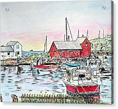 Motif #1 Rockport, Massachusetts Acrylic Print