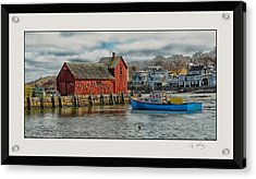 Motif #1 Watches Over The Amie V3 Acrylic Print by Liz Mackney