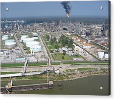 Motiva Petroleum Refinery Is Located Acrylic Print by Everett