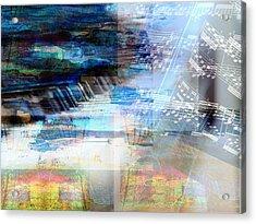Motivational Piano Acrylic Print