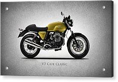 Moto Guzzi V7 Cafe Classic Acrylic Print by Mark Rogan