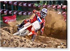 Moto-x Acrylic Print by Robert Smith