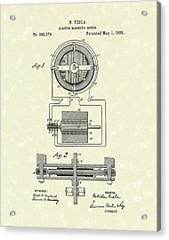 Motor 1888 Patent Art Acrylic Print