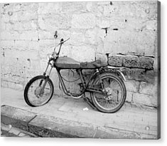 Motor Bike With Flat Tire Acrylic Print