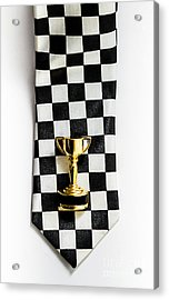 Motor Sport Racing Tie And Trophy Acrylic Print by Jorgo Photography - Wall Art Gallery