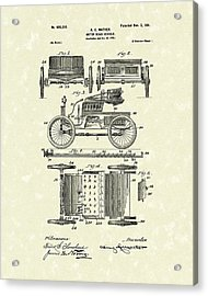 Motor Vehicle 1901 Patent Art Acrylic Print
