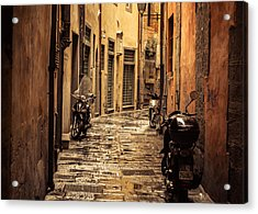 Motorcycle Alley Acrylic Print by Chris Fletcher