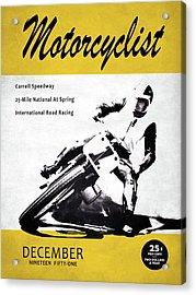 Motorcycle Magazine Carrell Speedway 1951 Acrylic Print