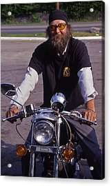 Motorcycle Minister Acrylic Print by Randy Muir