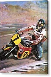 Motorcycle Racing Acrylic Print by Graham Coton
