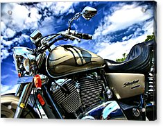Motorcycle Shadow Sabre Acrylic Print by Edward Myers