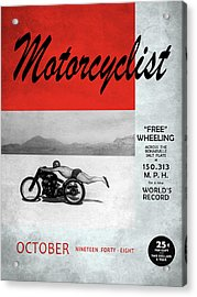 Motorcyclist Magazine - Rollie Free Acrylic Print
