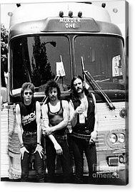 Motorhead 1982 Lemmy Kilmister,phil Taylor,brian Robertson Acrylic Print