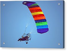 Motorized Parasail 2 Acrylic Print by Kenneth Albin