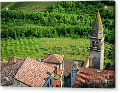 Motovun Istrian Hill Town - A View From The Ramparts, Istria, Croatia Acrylic Print