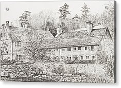 Mottistone Hall  Isle Of Wight Acrylic Print by Vincent Alexander Booth