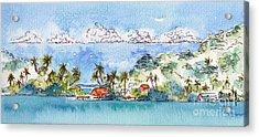Motu Toopua Bora Bora Acrylic Print