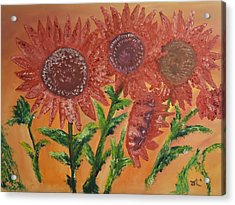 Moulinrouge Sunflowers Acrylic Print by James Bryron Love