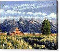 Moulton Barn At The Grand Tetons Acrylic Print