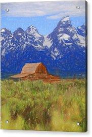 Moulton Barn Color Sketch Acrylic Print