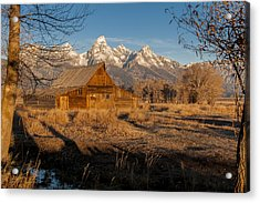 Acrylic Print featuring the photograph Moulton Barn by Gary Lengyel