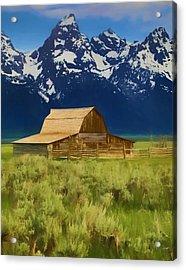 Moulton Barn In Spring Acrylic Print