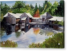 Moulton's Mill Acrylic Print by Anne Trotter Hodge