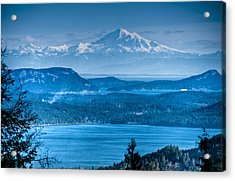 Mount Baker And The Gulf Islands Acrylic Print by R J Ruppenthal