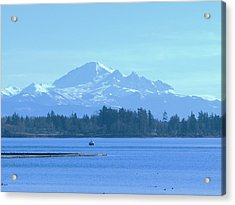 Mount Baker From The Spit Acrylic Print by James Johnstone