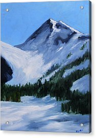 Acrylic Print featuring the painting Mount Baker Glacier by Nancy Merkle