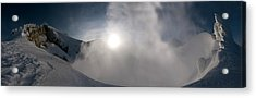 Mount Baker Summit Crater Acrylic Print by Alasdair Turner