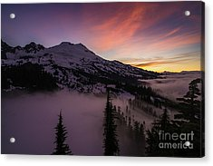 Mount Baker Sunrise Peaceful Morning Acrylic Print by Mike Reid
