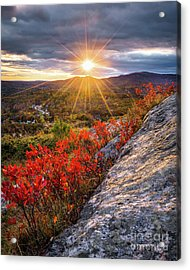 Mount Battie Sunset Acrylic Print