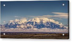 Mount Blanca With Skirt And Hat Acrylic Print