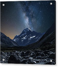 Mount Cook At Night Acrylic Print