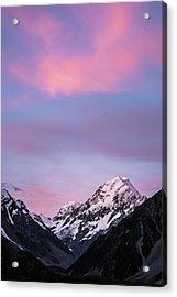 Mount Cook Sunset Acrylic Print