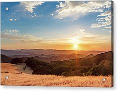 Acrylic Print featuring the photograph Mount Diablo Sunset by Geoffrey Lewis