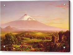 Mount Etna Acrylic Print by Thomas Cole