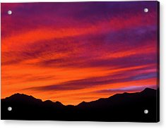 Mount Franklin Purple Sunset Acrylic Print