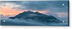 Mount Franklin Stormy Winter Sunset Pano Acrylic Print