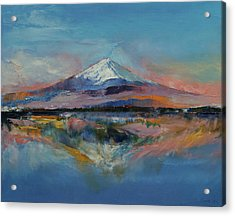 Mount Fuji Acrylic Print by Michael Creese