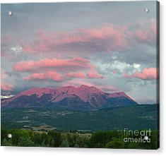 Mount Gunnison Sunset In Colorado Acrylic Print