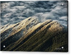 Mount Higgins Clouds Acrylic Print