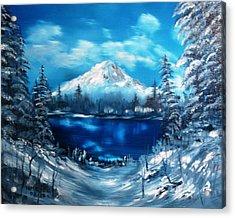 Mount Hood - Opus 2 Acrylic Print by Larry Hamilton