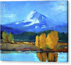 Acrylic Print featuring the painting Mount Hood by Nancy Merkle